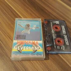 CASETA AUDIO NIRVANA-NEVERMIND ORIGINALA