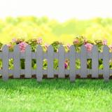 Bordura pt. pat de flori gard - extensibil, 40,5 x 29,5 cm - Gri