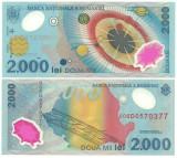 Romania 1999 - 2000 lei UNC, polimer