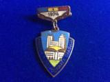 Insignă fruntaș - Insignă România - Fruntaș în gospodărirea orașului 1974