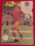 Program meci fotbal SPORTUL STUDENTESC - RAPID BUCURESTI (aprilie 1988)