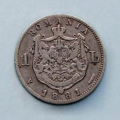 ROMANIA  -  1 Leu 1881  -  Argint 5 g.