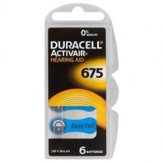 Baterii pentru proteze auditive Duracell ZA675 Zinc-Aer 6 Baterii /set