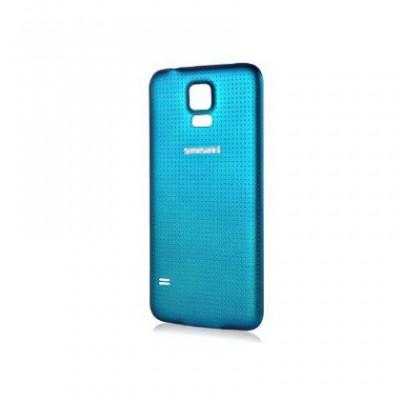 Capac baterie Samsung Galaxy S5 G900 albastru Orig Swap B foto