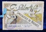 Reclama magazinului G. Salm si Cie Specialitati de panzarie, Bucuresti