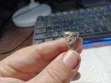 Inel argint masiv cu onix