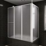 Cumpara ieftin Panou separeu pentru baie 70 x 120 x 140 cm Formă L Pliabil în 4
