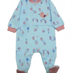 Salopeta / Pijama bebe cu desene Z36, 1-2 ani, 1-3 luni, 12-18 luni, 3-6 luni, 6-9 luni, 9-12 luni, Bleu