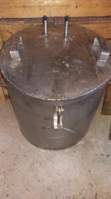 Cazan țuică - inox alimentar - capacitate 180 litri foto