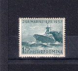 ROMANIA 1957 - ZIUA MARINEI , MNH - LP 435, Nestampilat