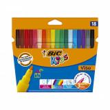 Set markere colorate lavabile Visa Bic, P18