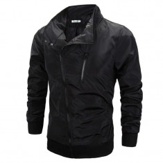 Jacheta pentru barbati, negru, din fas, slim fit