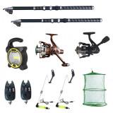 Cumpara ieftin Set pescuit sportiv 2 lansete Ultra Carp 2.7m, proiector solar, 2 mulinete, 2 senzori cool angel, swingeri si