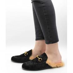 Papuci eleganți Negru 37