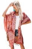 E438-91 Kimono de vara cu ciucurei, Marime universala