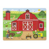 Puzzle sonor Ferma Animalelor Melissa and Doug, 2 x AA, 30 x 22 cm