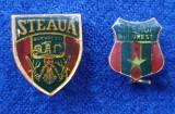Insigna FOTBAL Steaua Bucuresti x 2 variante - anii 1980