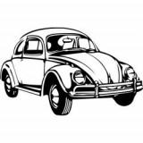 Stickere auto Vw beetle
