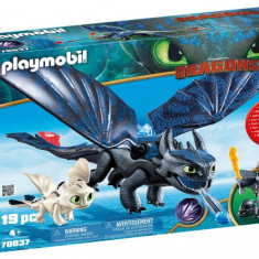 Playmobil Dragons - Hiccup, Toothless si pui de dragon