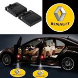 Set 2 Lampi Proiectoare Led Logo Universale Renault(cu baterii)