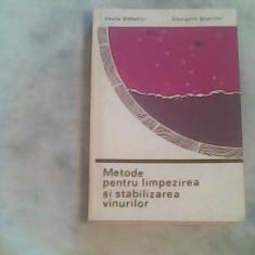 Metode pentru limpezirea si stabilizarea vinurilor-Ing.V.Doholici,G.Septilici