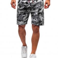 Pantaloni scurți trening bărbați camuflaj-gri Bolf 300118