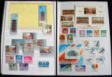 Clasor Romania 210 timbre + 35 colite + 4 blocuri, serii nestampilate 1933-1995, Romania de la 1950