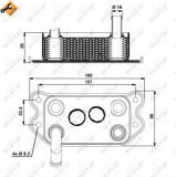 Termoflot radiator ulei (80x50x142, cu garnitura) VOLVO C70 I, S60 I, S70, S80 I, V70 I, V70 II, XC70 CROSS COUNTRY, XC90 I 2.0-3.0 intre 1995-2014