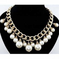 Colier fashion White & Gold