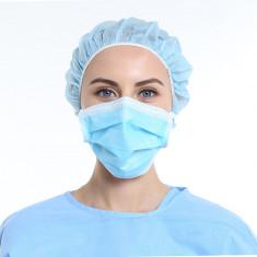 Masca faciala medicala chirurgicala pentru adulti cu 3 straturi de protectie, set 10 buc, produs steril, EN14683, eficienta >98%