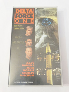 Caseta video VHS originala film tradus Ro - Delta Force One Patrula Disparuta
