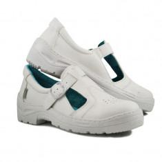 Sandale microfibra Kolmax, marimea 44, alb