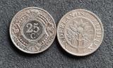 Antilele Olandeze 25 cent centi 1990, America Centrala si de Sud