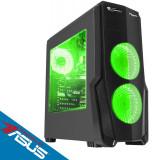 Sistem desktop Strike V3 Powered by ASUS AMD Ryzen 5 2600 Hexa Core 3.4 GHz 8GB DDR4 AMD Radeon RX 580 8GB DDR5 1TB HDD 120GB SSD Free Dos Black