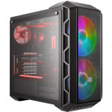 Carcasa Middle-Tower E-ATX, MasterCase H500 ARGB, w/ RGB controller, tempered glass, grey, Cooler Master