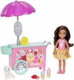 Set Barbie Chelsea - Carucior de inghetata, FDB33