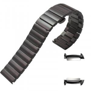 Curea din metal, adaptoare compatibile Samsung Gear Fit 2, Negru