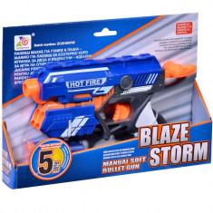 Arma de jucarie, model lansator tip blazer cu gloante moi, 23 cm, albastru