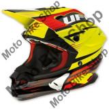 MBS Casca motocross Ufo Interceptor Enemy, fibra de carbon, negru/galben, XXL, Cod Produs: HE023XXL