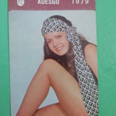 CCO 1979 - CALENDAR DE COLECTIE - TEMATICA RECLAMA - CIORAPI ADESGO - ANUL 1979