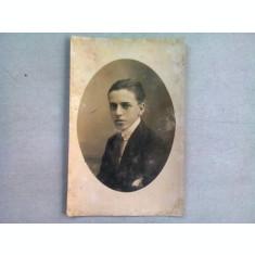 FOTOGRAFIE TIP CARTE POSTALA, PORTRET TANAR, ANUL 1921