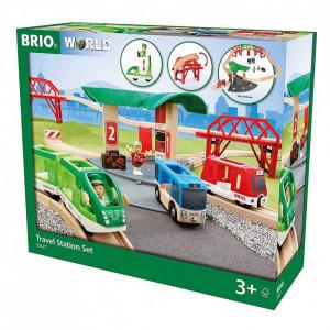 Set de transport de persoane cu statie de autobuz Brio 33627