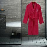 Halat de baie Beverly Hills Polo Club, 355BHP1703, bumbac 100 procente, M/L, Rosu