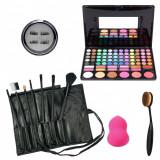 Set kit trusa paleta machiaj 78 culori  7 pensule gene magnetice makeup para ou
