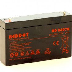 Acumulator stationar 6V 7Ah, Plumb Acid VRAL AGM Reddot