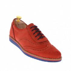 Pantofi barbati casual din piele naturala intoarsa, finisata - 871SPR