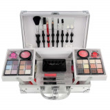 Valiza Profesionala Machiaj, Multifunctionala, Magic Color Makeup Kit, Charming Silver
