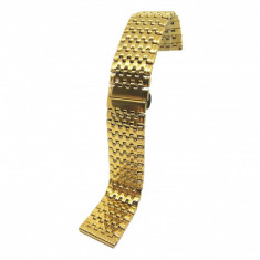 Bratara de ceas Aurie din Otel Inoxidabil - 22mm - WZ3791
