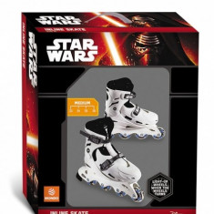 Role copii 4 roti in linie Star Wars reglabile marimi 33-36 cu lumina roti