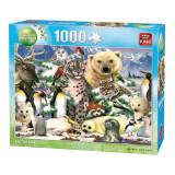 Puzzle 1000 piese Animal world-Arctic life